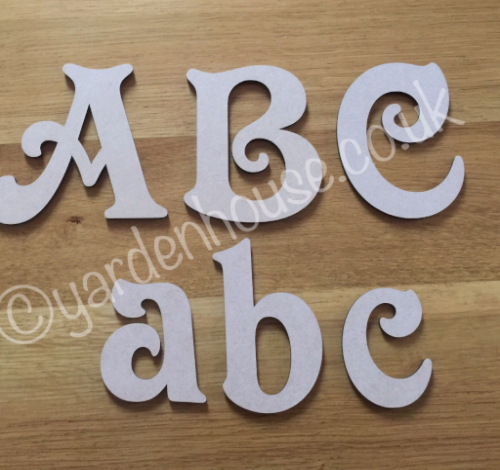 flat 3mm mdf letters 12cm capital letter victorian style font