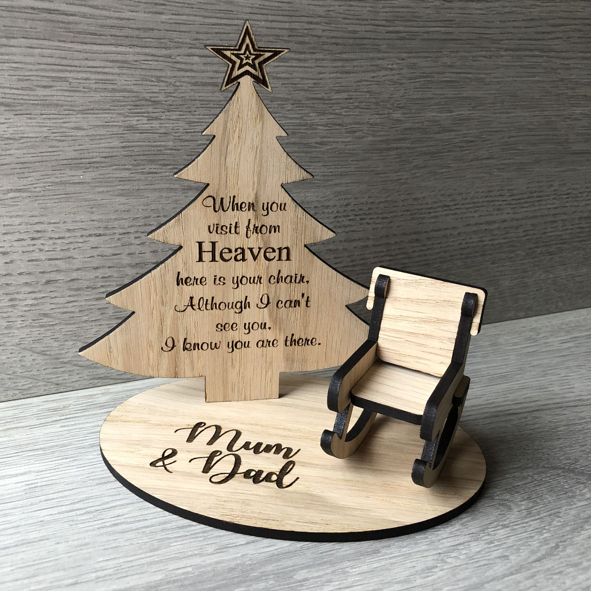 Christmas In Heaven.Christmas In Heaven Rocking Chair Oak Veneer