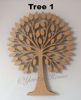Family Tree Pack Tree (3mm MDF) & engraved hearts (3mm light ply)