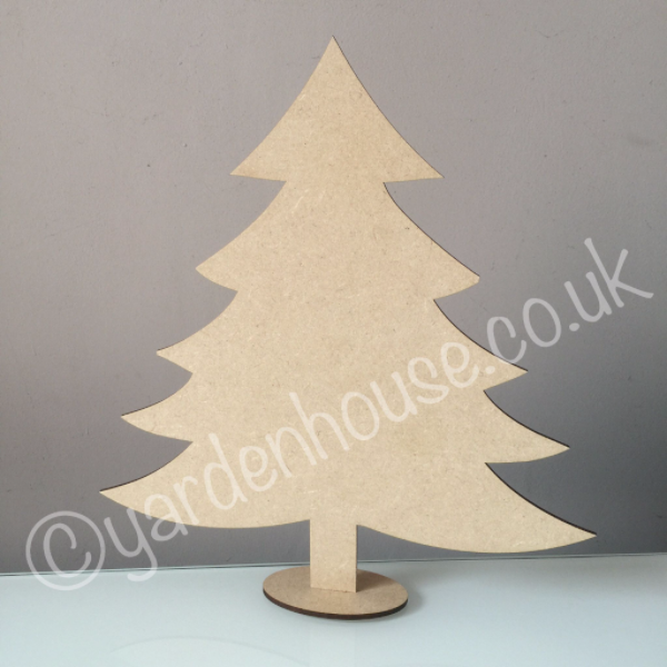 free standing christmas tree 3mm mdf 25cm high