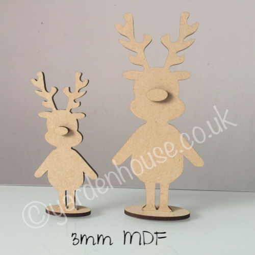 Free Standing Reindeer - 3 sizes - 3mm MDF