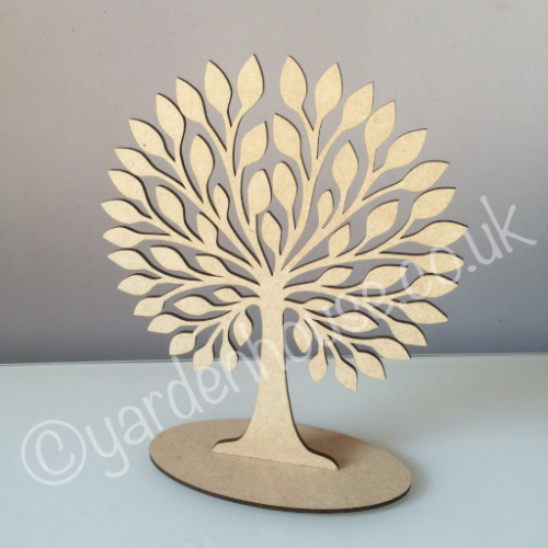 Free standing tree 1, 3mm MDF, 25cm high