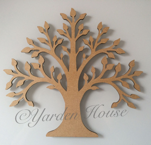 Mdf (3mm) Tree 2, Style wide, 20cm x 21cm