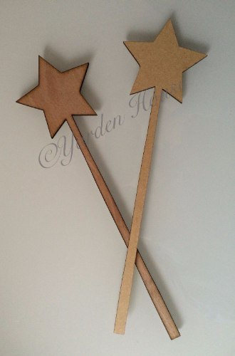 Wands (pack of 5), 3mm laser cut MDF, 270mm x 75mm, Various shapes available.