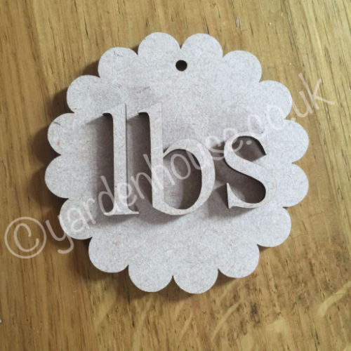 Weight loss tags. 3mm MDF, plain and unfinished, comes loose, ready to paint...